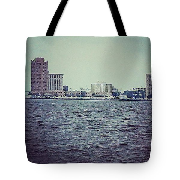 City Across The Sea Tote Bag by Thomasina Durkay