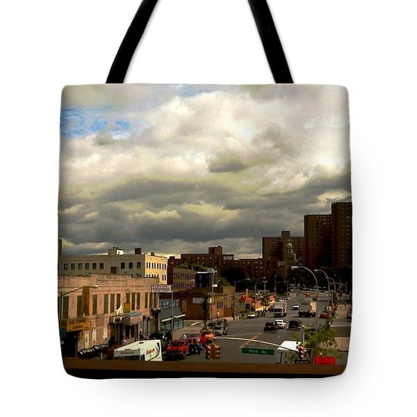 Tote Bag featuring the photograph City And Sky by Miriam Danar