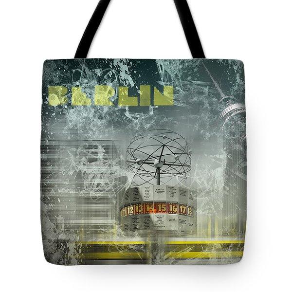 City-art Berlin Alexanderplatz  Tote Bag by Melanie Viola