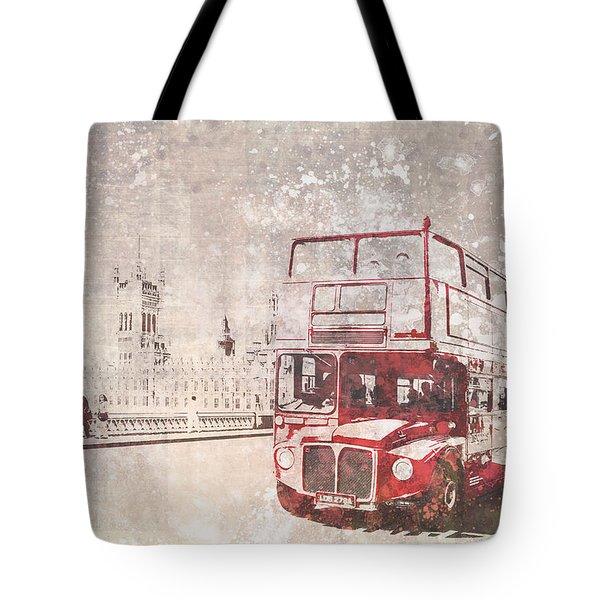 City-art London Red Buses II Tote Bag