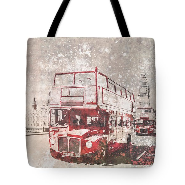 City-art London Red Buses II Tote Bag by Melanie Viola