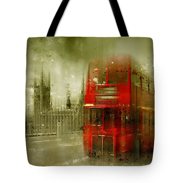 City-art London Red Buses Tote Bag