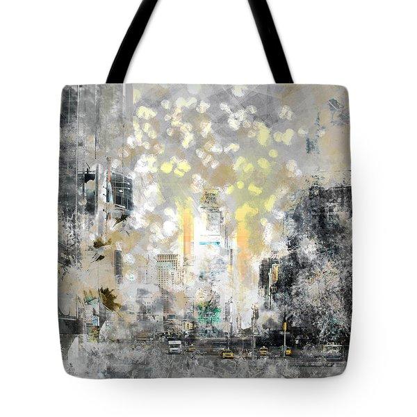 City-art Manhattan Sunflower Tote Bag by Melanie Viola