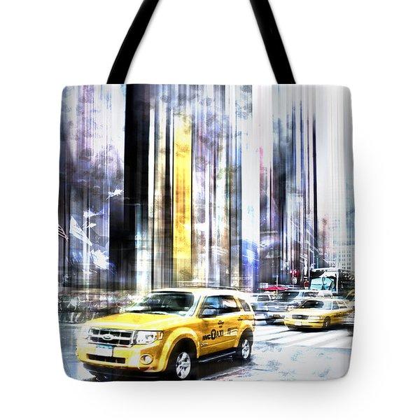 City-art Times Square II Tote Bag by Melanie Viola