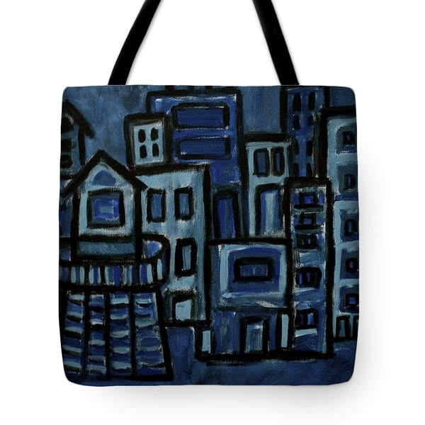 City At Night Tote Bag