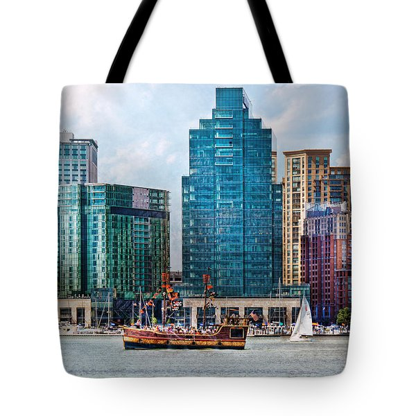 City - Baltimore Md - Harbor East  Tote Bag by Mike Savad