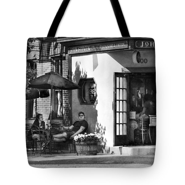 City - Baltimore Md - Having A Cold One Tote Bag by Mike Savad