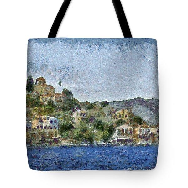 City By The Sea Tote Bag by Ayse Deniz