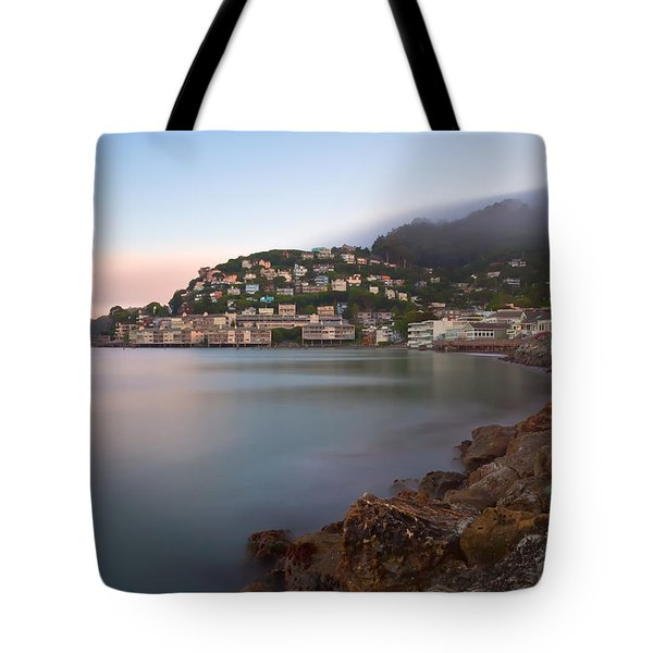 Tote Bag featuring the photograph City By The Sea by Jonathan Nguyen