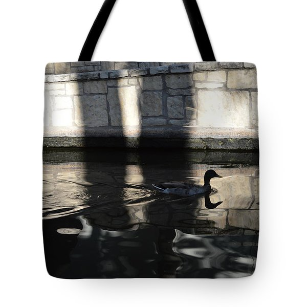 Tote Bag featuring the photograph City Ducks by Shawn Marlow