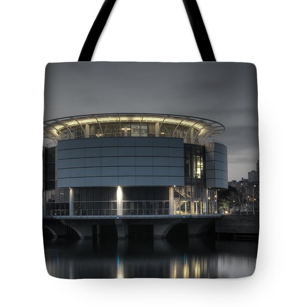 Tote Bag featuring the photograph City Glare by Deborah Klubertanz