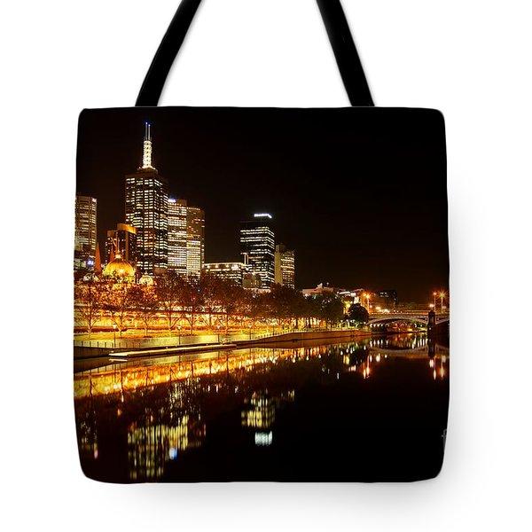 City Glow Tote Bag by Andrew Paranavitana