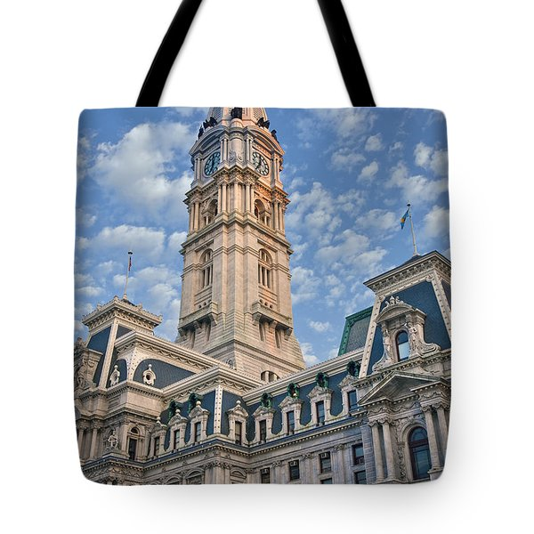 City Hall Clock Tower Downtown Phila Pa Tote Bag