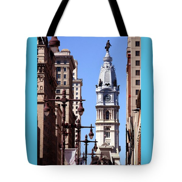 Philadelphia City Hall From Broad St Tote Bag by Christopher Woods