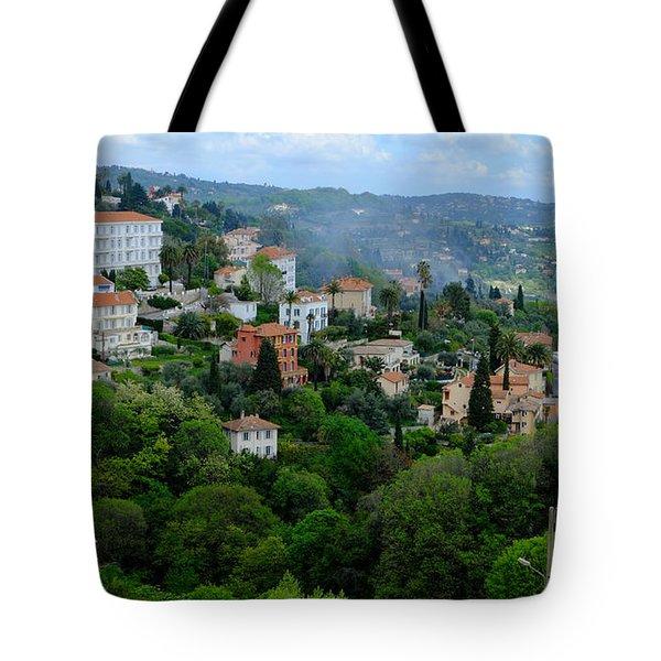 City Hills Of Grasse France Tote Bag