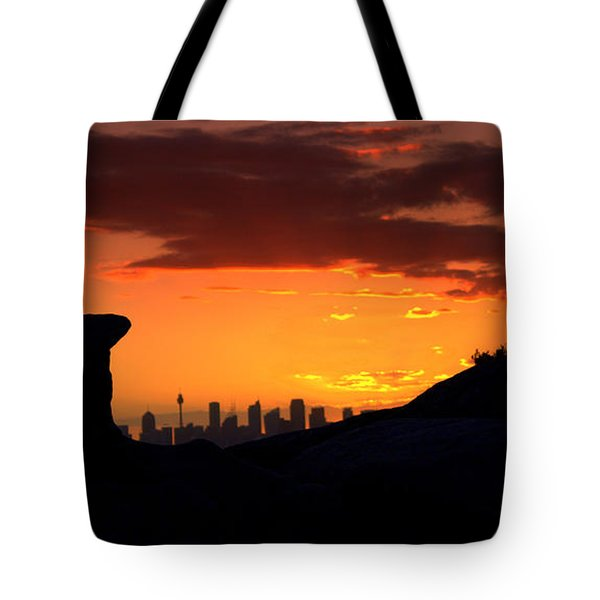 Tote Bag featuring the photograph City In A Palm Of Rock by Miroslava Jurcik