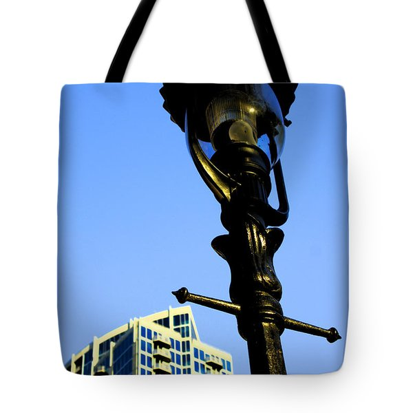 City Lamp Post Tote Bag by Karol Livote