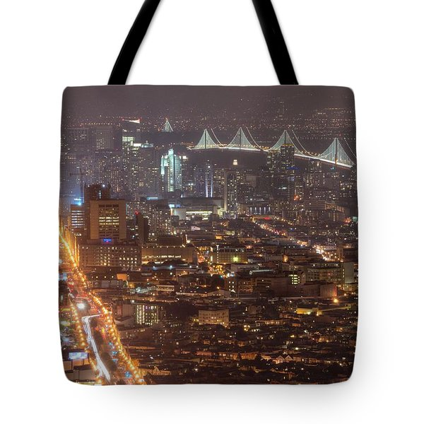 Tote Bag featuring the photograph City Lava by Peter Thoeny