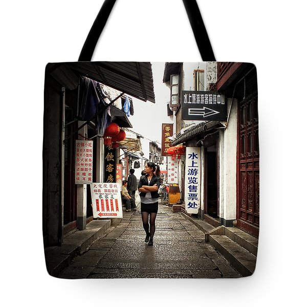 Tote Bag featuring the photograph City Life In Ancient China by Lucinda Walter