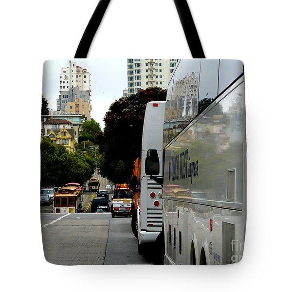 City Life In Frisco Tote Bag by Avis  Noelle