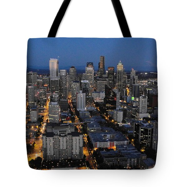 Tote Bag featuring the photograph City Lights by Natalie Ortiz