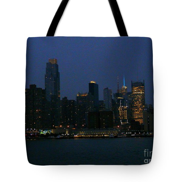 City Lights Of New York Tote Bag by Avis  Noelle