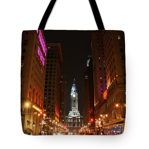 Philadelphia City Lights Tote Bag by Christopher Woods