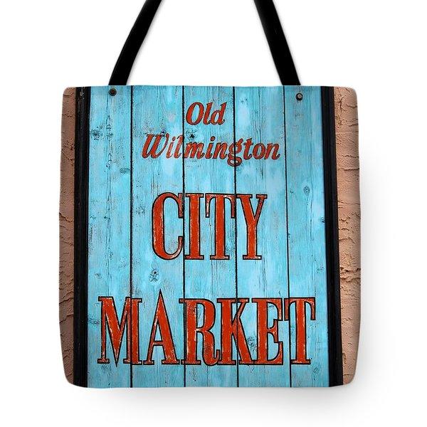 City Market Sign Tote Bag by Cynthia Guinn