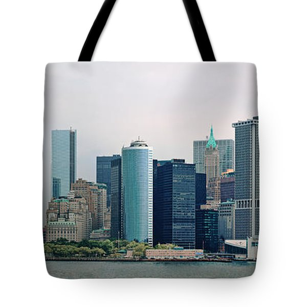 City - Ny - The Financial District Tote Bag by Mike Savad
