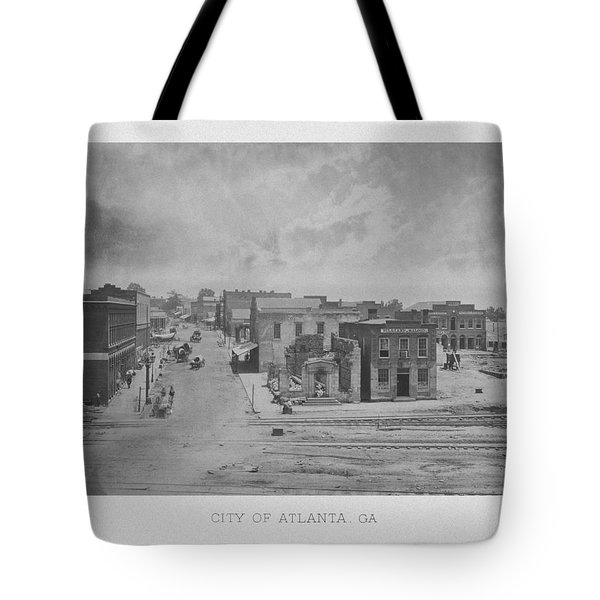 City Of Atlanta 1863 Tote Bag by War Is Hell Store