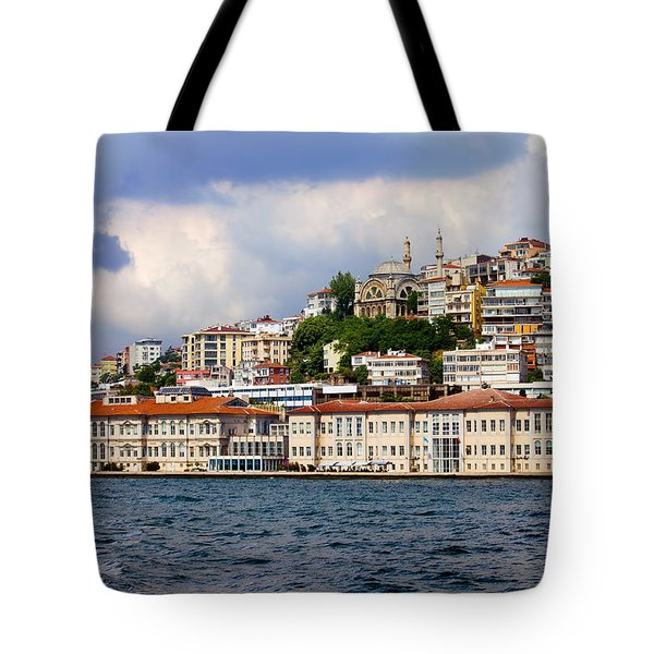 City Of Istanbul Cityscape Tote Bag by Artur Bogacki