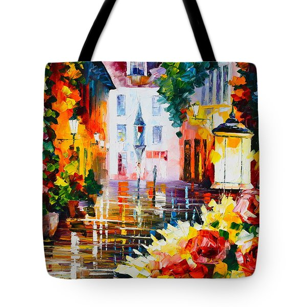 City Of Roses Tote Bag by Leonid Afremov