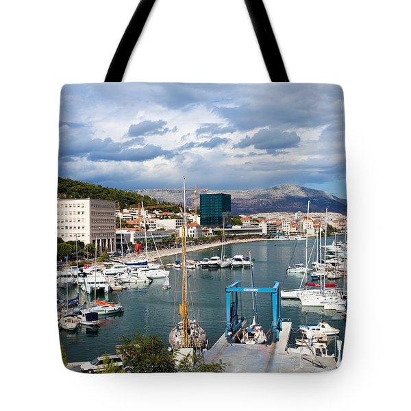 City Of Split Port In Croatia Tote Bag