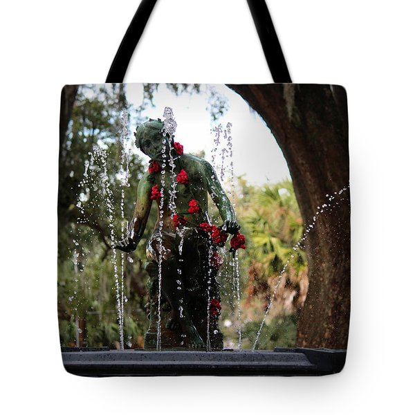 City Park Fountain Tote Bag