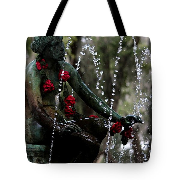 City Park Fountain II Tote Bag