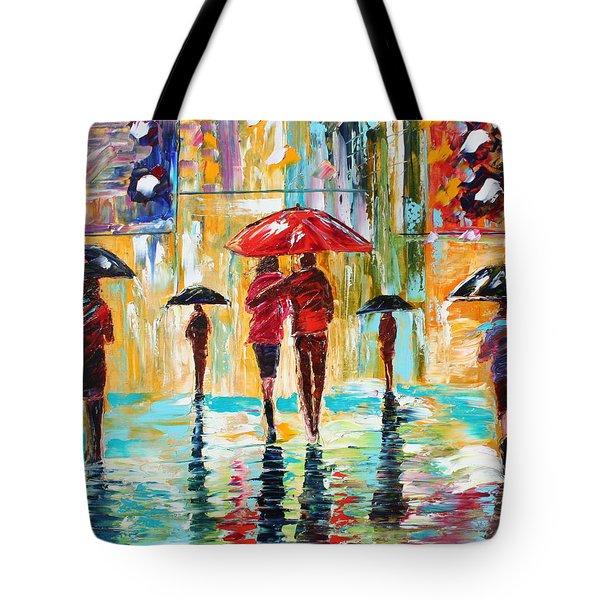 City Rain Tote Bag by Karen Tarlton