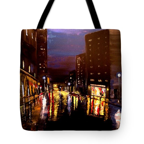 City Rain Tote Bag by Mark Moore