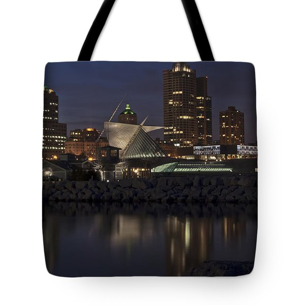 Tote Bag featuring the photograph City Reflection by Deborah Klubertanz