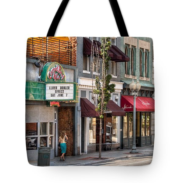 City - Roanoke Va - Down One Fine Street  Tote Bag by Mike Savad