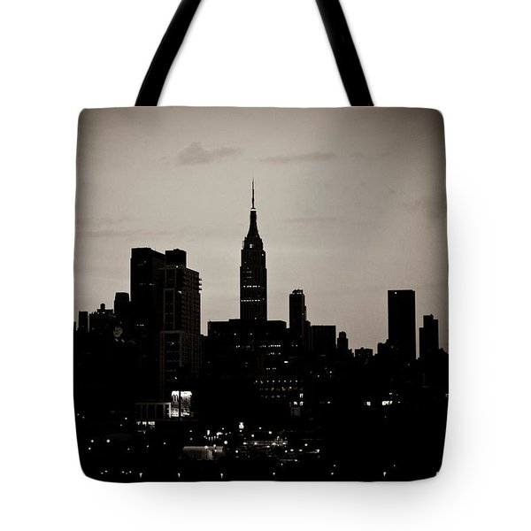 Tote Bag featuring the photograph City Silhouette by Sara Frank