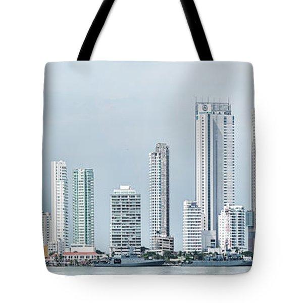City Skyline, Bocagrande, Cartagena Tote Bag