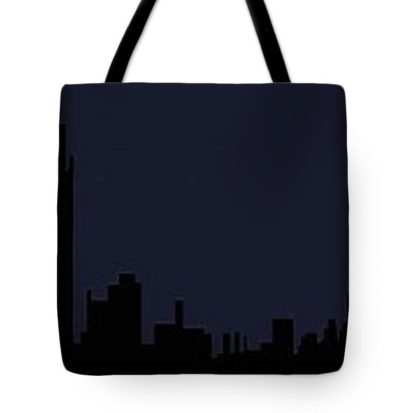 Tote Bag featuring the digital art City Skyline... by Tim Fillingim