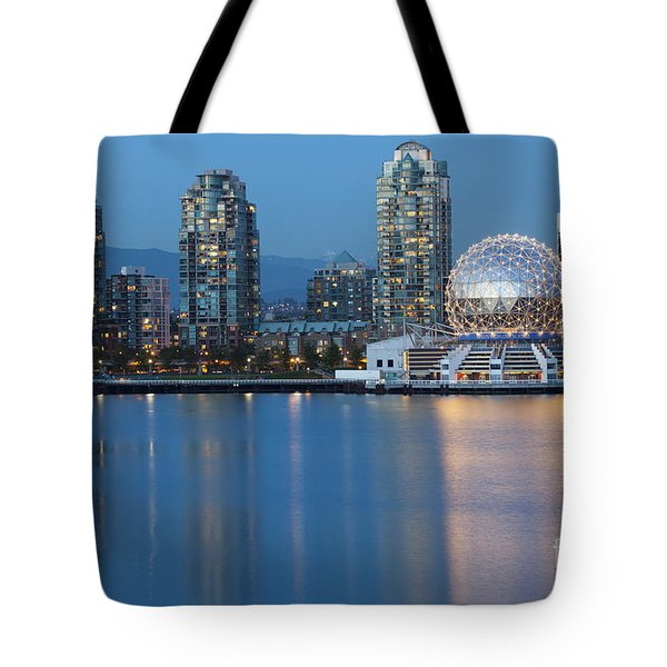 Tote Bag featuring the photograph City Skyline -vancouver B.c. by Bryan Mullennix
