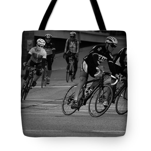 City Street Cycling Tote Bag