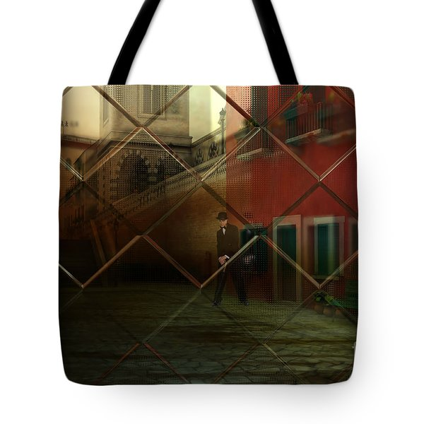 Tote Bag featuring the digital art City Street by Liane Wright