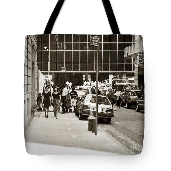 City Streets 1990s Tote Bag by John Rizzuto