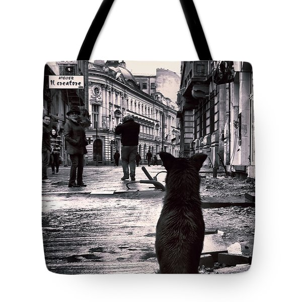 City Streets And The Theory Of Waiting Tote Bag