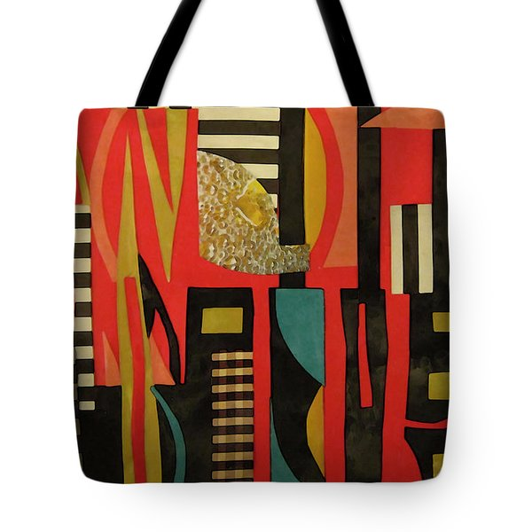 City Sunset Tote Bag by Mary Bedy