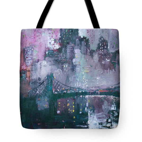 City That Never Sleeps Tote Bag by Ylli Haruni