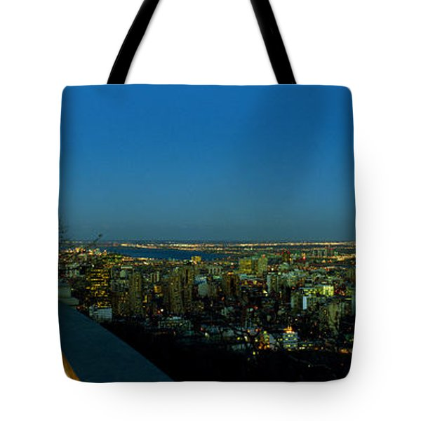 City Viewed From An Observation Point Tote Bag